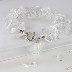 Large Chip Bracelet - Crystal