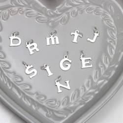sterling silver letter initial charms