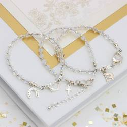 Swarovski crystal friendship wedding bracelet, delicate crystal jewellery for a bride