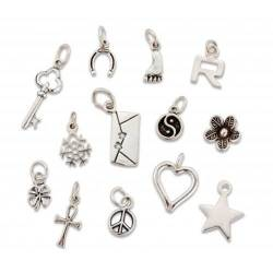solid sterling silver charms