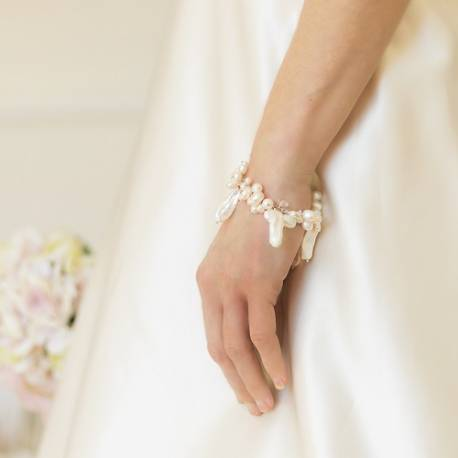 bish bosh becca white assorted pearl bridal bracelet perfect wedding jewellery beng worn