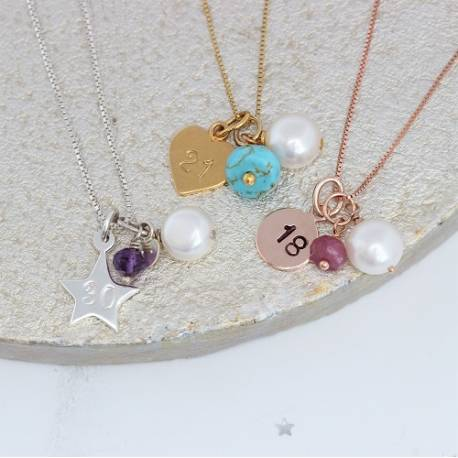 milestone birthday necklaces a special gift on her big birthday