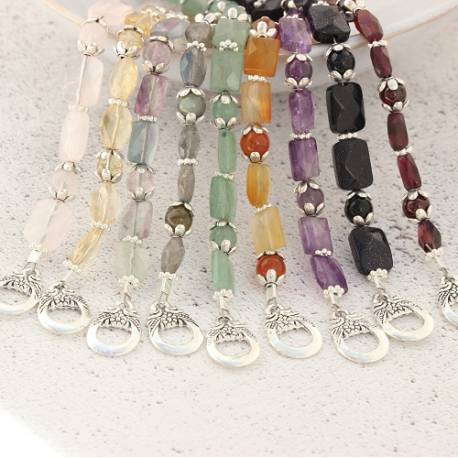gemstone stacking bracelets finished with a decorative clasp, mix and match bracelets for the perfect gift