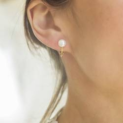 8mm Pearl Clip-on - White