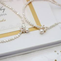 adrianna handmade white pearl choker necklace modern pearls for a bride on her wedding day