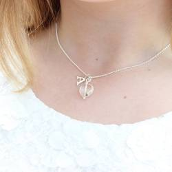 handmade crystal wedding pendant necklaces in sterling silver, rose gold and gold personalised a brides initial