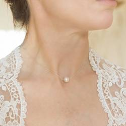 Keimau Pearl on Silver Necklace