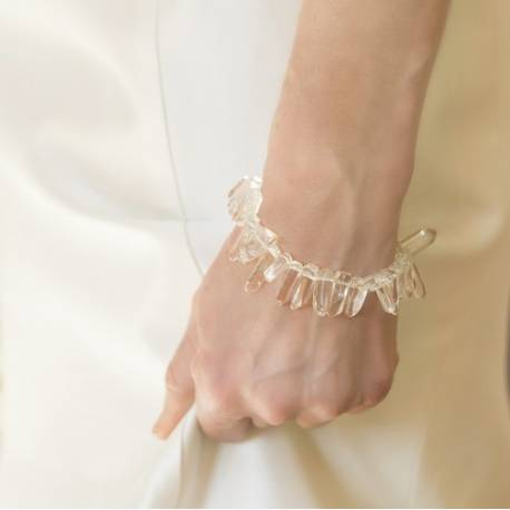 octavia wedding bracelet with crystal points for a bride who wants to make a statement