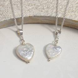 mama et moi heart pearl necklaces mother and child jewellery set for birthday or christening gift