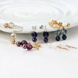 Cassio Pearl and Crystal Earrings