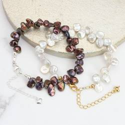 keshi white or peacock petal pearl bracelet, modern heirloom pearl jewellery gift she will treasure
