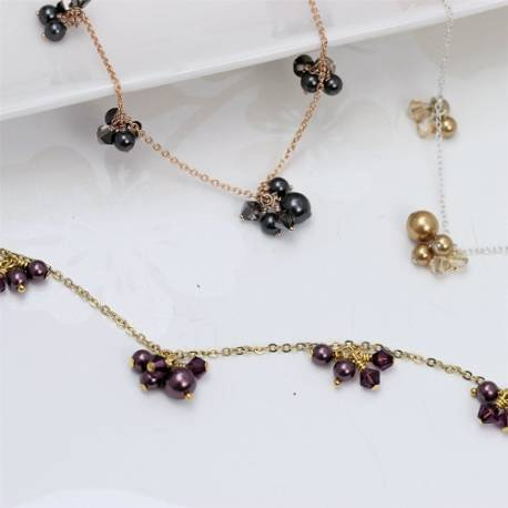 Marina swarovski pearl and crystal necklaces, affordable delicate jewellery gift ideas for bridesmaids