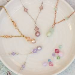 imogen swarovski crystal and pearl necklace, thoughtful affordable jewellery gifts for bridesmaids