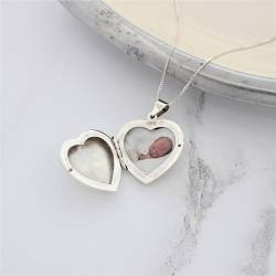 sterling silver large oversize heart photo pendant. a thoughtful gift for her for valentines, mothers day or your anniversary