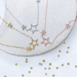 triple star necklace in silver, rose gold or gold, perfect chistmas gifts for her