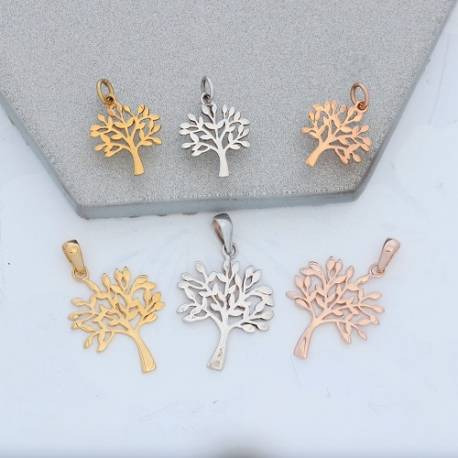 Tree of Life Charm Pendant in Silver, Rose Gold or Gold Vermeil