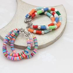 Colorful Rainbow Beaded Bracelets