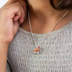 childs silver butterfly charm necklace with swarovski crystal and pearls, silver jewellery gift for a little girl