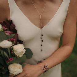 peacock or white pearl and chain back lariat necklaces in silver, rose gold or gold