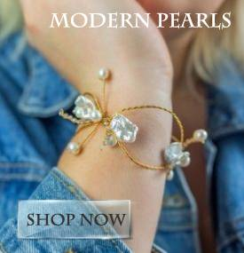 Modern pearl jewellery for her. Perfect gifts for the pearl loving woman.